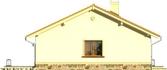Projekt domu Bossanova - elewacja boczna 1