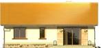 Projekt domu Bossanova - elewacja tylna