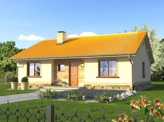 Projekt domu Bossanova - widok 1
