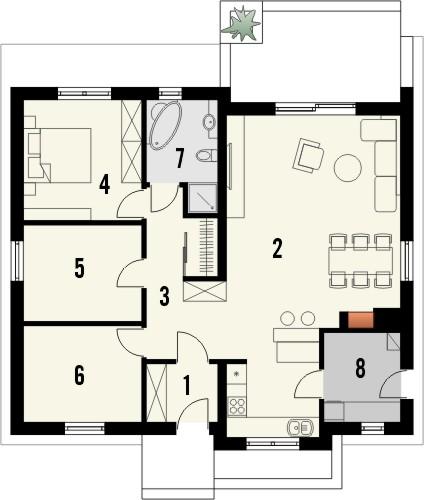 Projekt domu Limeryk - rzut parteru