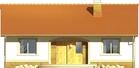 Projekt domu Limonka - elewacja przednia