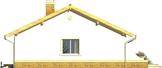 Projekt domu Limonka - elewacja boczna 1