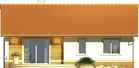 Projekt domu Limonka - elewacja tylna