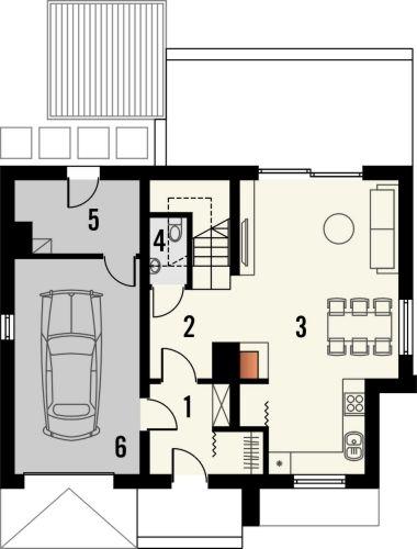 Projekt domu Murano S - rzut parteru