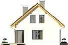 Projekt domu Esens - elewacja boczna 1