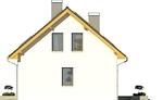 Projekt domu Esens - elewacja boczna 2
