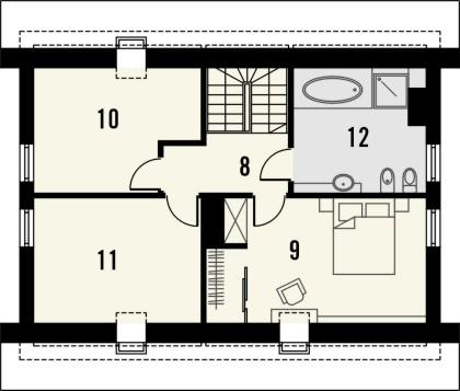 Projekt domu Esens - rzut poddasza