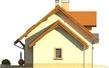 Projekt domu Aroma 2G - elewacja boczna 2