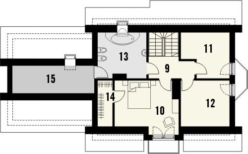 Projekt domu Aroma 2G - rzut poddasza