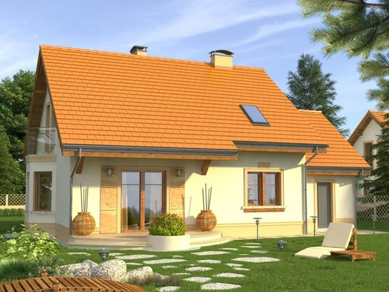 Projekt domu Aroma 2G - widok 2