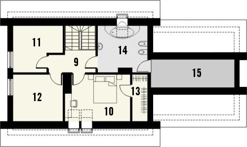 Projekt domu Elegant 2G - rzut poddasza