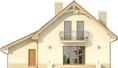 Projekt domu Esencja - elewacja tylna