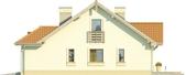 Projekt domu Lapis 2  - elewacja boczna 1