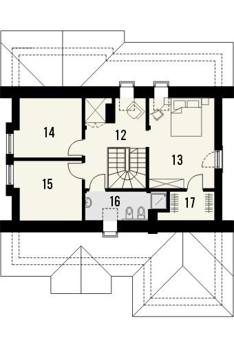 Projekt domu Lapis 2  - rzut poddasza