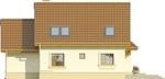 Projekt domu Orzech - elewacja tylna