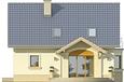 Projekt domu Roma - elewacja tylna