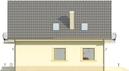 Projekt domu Sorbona - elewacja boczna 1
