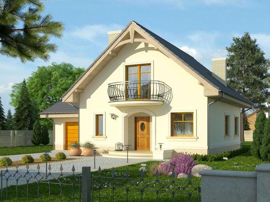 Projekt domu Sorbona - widok 1