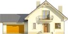 Projekt domu Sorbona 2G - elewacja przednia