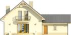 Projekt domu Sorbona 2G - elewacja tylna
