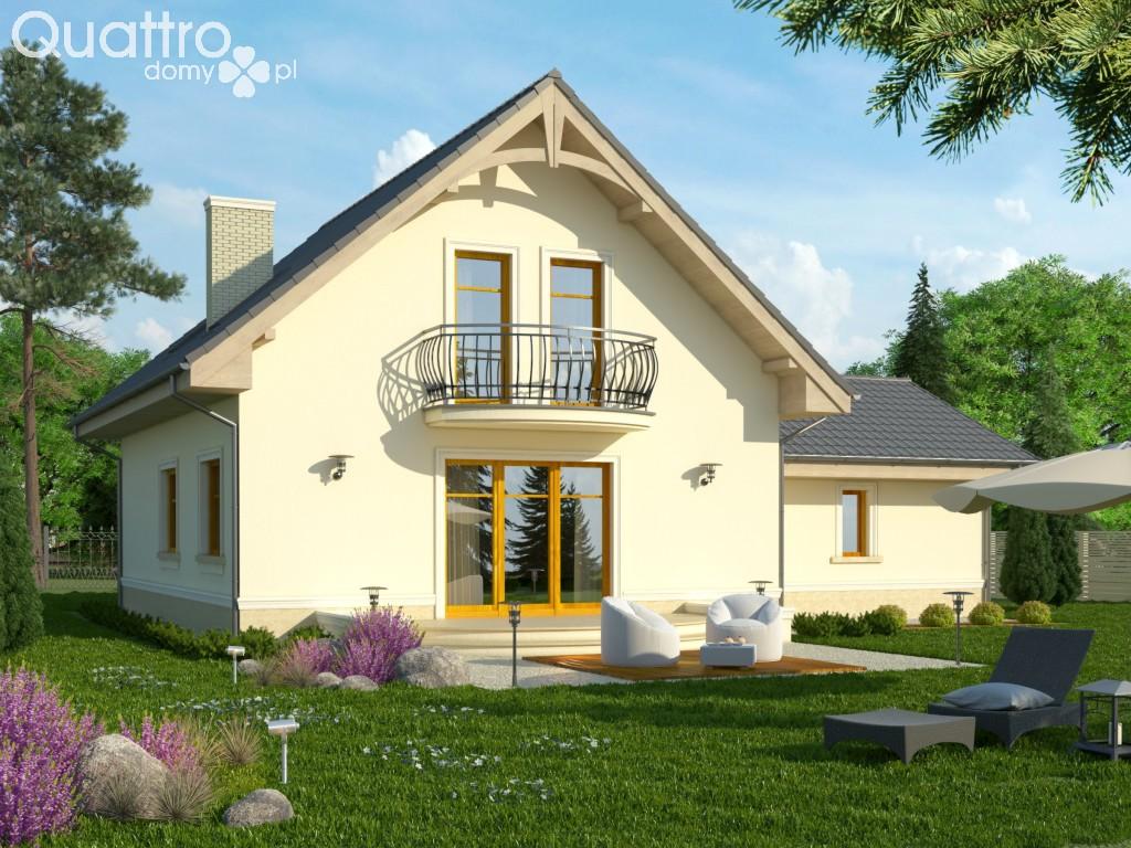 Dom W Stylu Amerykańskim Francuskim Projekt Domu Sorbona 2g