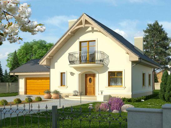 Projekt domu Sorbona 2G - widok 1