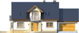 Projekt domu Szmaragd 2G - elewacja przednia