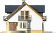 Projekt domu Szmaragd 2G - elewacja boczna 1