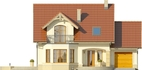 Projekt domu Piano - elewacja przednia