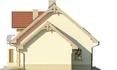 Projekt domu Piano - elewacja boczna 2