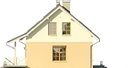 Projekt domu Madras - elewacja boczna 1