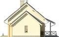 Projekt domu Madras - elewacja boczna 2