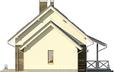 Projekt domu Madras 2G - elewacja boczna 2