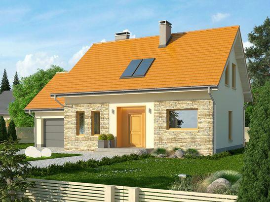 Projekt domu Gradient - widok 2