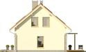 Projekt domu Gradient 2G - elewacja boczna 1