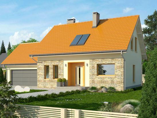 Projekt domu Gradient 2G - widok 1