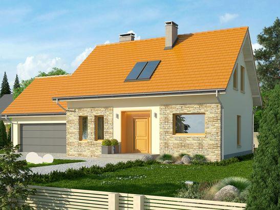 Projekt domu Gradient 2G - widok 3