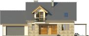 Projekt domu Umbria 2G - elewacja przednia