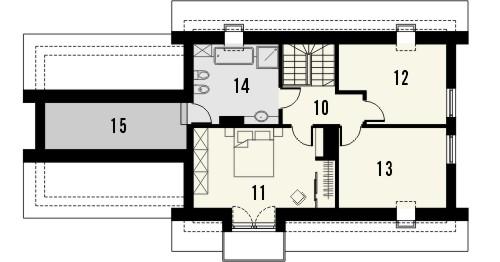 Projekt domu Umbria 2G - rzut poddasza