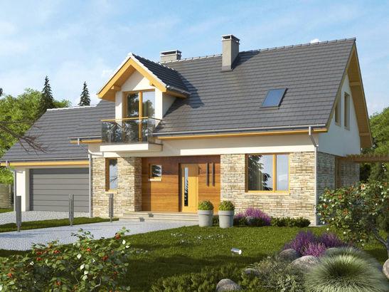 Projekt domu Umbria 2G - widok 1