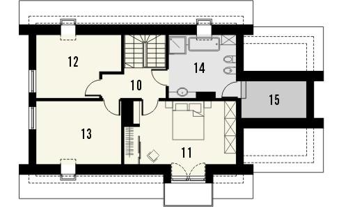 Projekt domu Umbria 2 - rzut poddasza