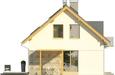 Projekt domu Umbria 2 2G - elewacja boczna 1