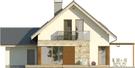 Projekt domu Maestro - elewacja tylna