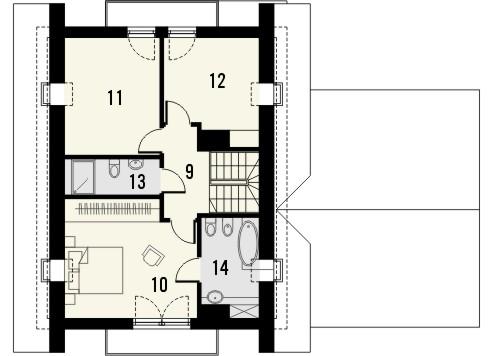 Projekt domu Maestro 2G - rzut poddasza