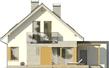 Projekt domu Grappa - elewacja tylna