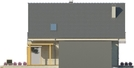 Projekt domu Grappa - elewacja boczna 2