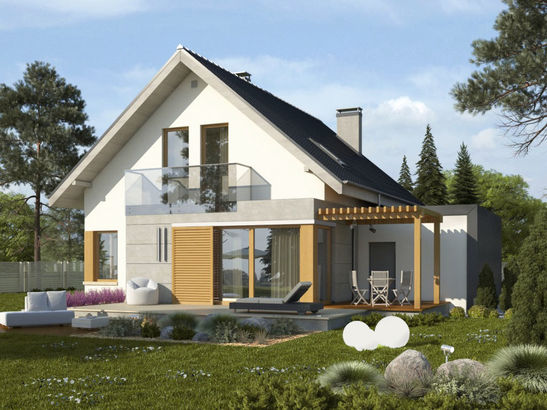 Projekt domu Grappa - widok 1
