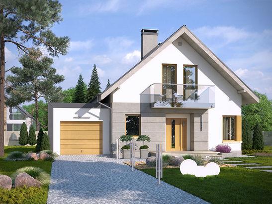 Projekt domu Grappa - widok 2