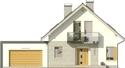 Projekt domu Grappa 2G - elewacja przednia