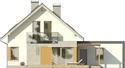 Projekt domu Grappa 2G - elewacja tylna